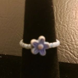 Jewelry - Floral Blue Ring Size 6